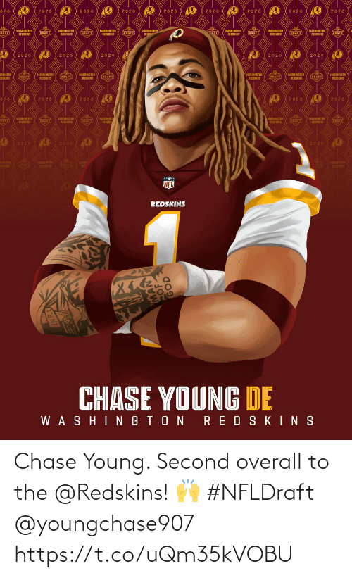 Young: Chase Young. Second overall to the @Redskins! 🙌 #NFLDraft @youngchase907 https://t.co/uQm35kVOBU