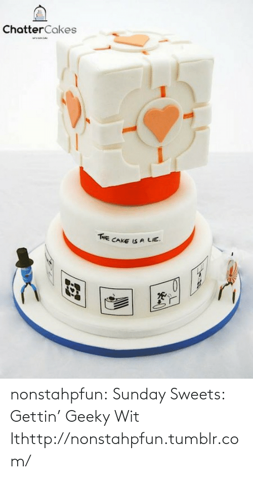 the cake is a lie: ChatterCakes  THE CAKE IS A LIE. nonstahpfun:  Sunday Sweets: Gettin' Geeky Wit Ithttp://nonstahpfun.tumblr.com/