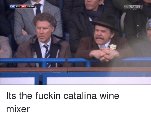 Sky Sport: CHE 2-0 AR  56:20  Sky SPORTS 1  LIVE Its the fuckin catalina wine mixer