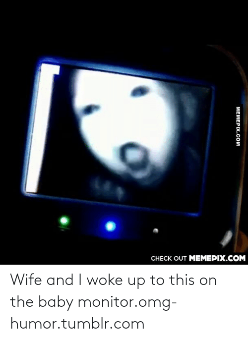 baby monitor: CHECK OUT MEMEPIX.COM  МЕМЕРIХ.сом Wife and I woke up to this on the baby monitor.omg-humor.tumblr.com