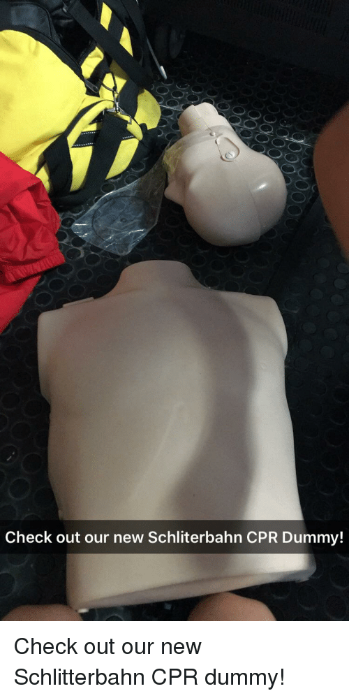 Cpr Dummy: Check out our new Schliterbahn CPR Dummy!