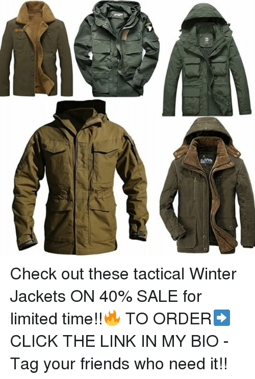 Check Out These Tactical Winter Jackets On 40 Sale For