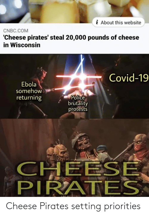 cheese: Cheese Pirates setting priorities