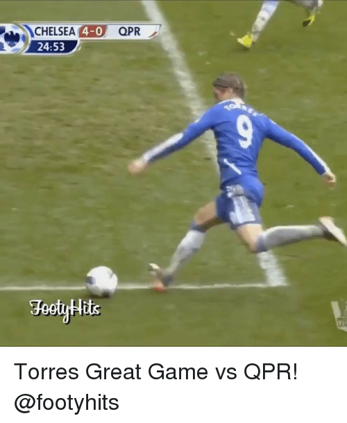 torr: CHELSEA  4-0  QPR  24:53 Torres Great Game vs QPR! @footyhits