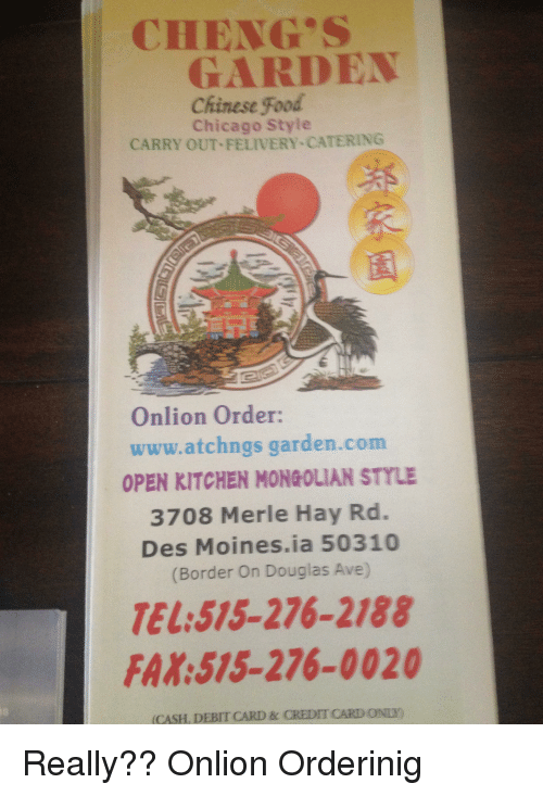 Cheng Garden Chinese Food Chicago Style Carry Out Felivery Catering Onlion Order Wwwatchngs