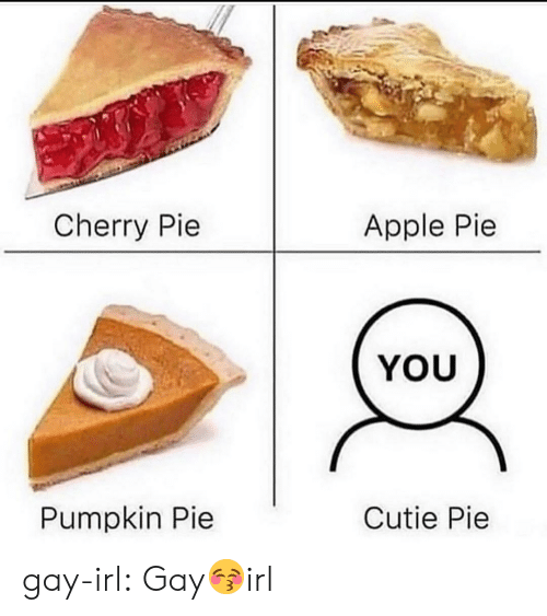 cutie: Cherry Pie  Apple Pie  YOU  Pumpkin Pie  Cutie Pie gay-irl:  Gay😚irl