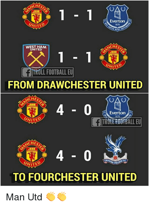 Everton, Football, and Memes: CHES  Everton  878  CHES  WEST HAM  UNITED  UNITE  TROLL FOOTBALL EU  FROM DRAWCHESTER UNITED  ACHE  40  Everton  UNITE  TRULEFOO BALL EU  CHES  TO FOURCHESTER UNITED Man Utd 👏👏