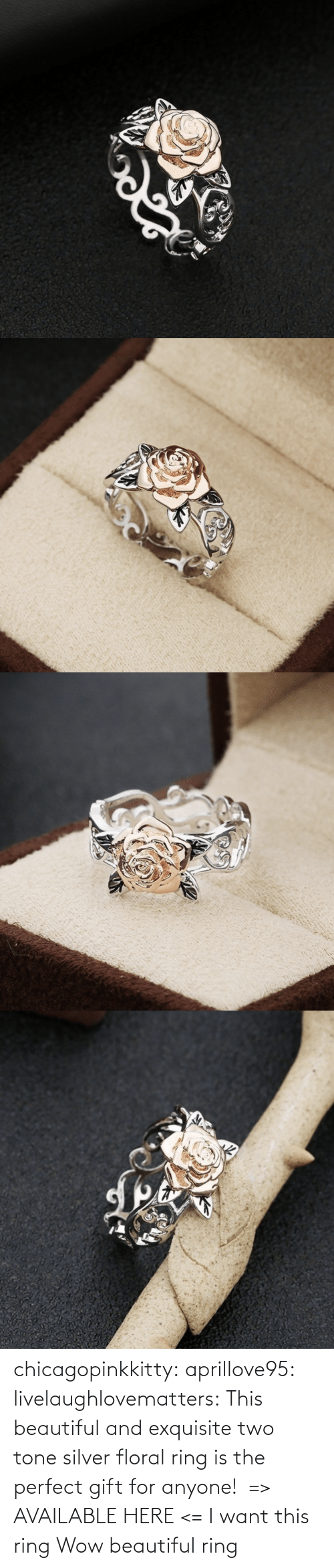 i want this: chicagopinkkitty: aprillove95:  livelaughlovematters:  This beautiful and exquisite two tone silver floral ring is the perfect gift for anyone!  => AVAILABLE HERE <=    I want this ring     Wow beautiful ring