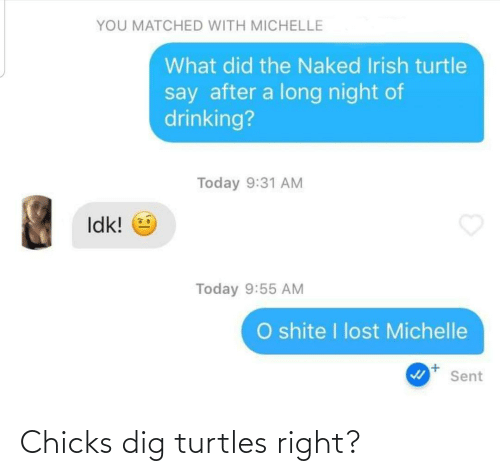 chicks: Chicks dig turtles right?