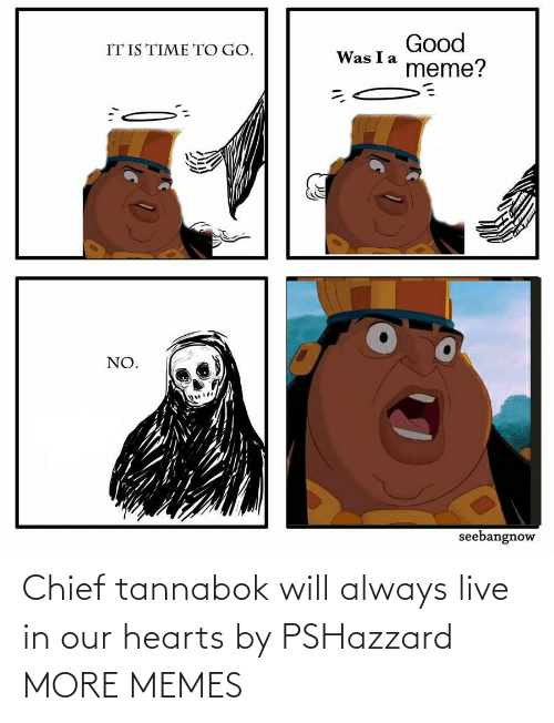 Chief: Chief tannabok will always live in our hearts by PSHazzard MORE MEMES