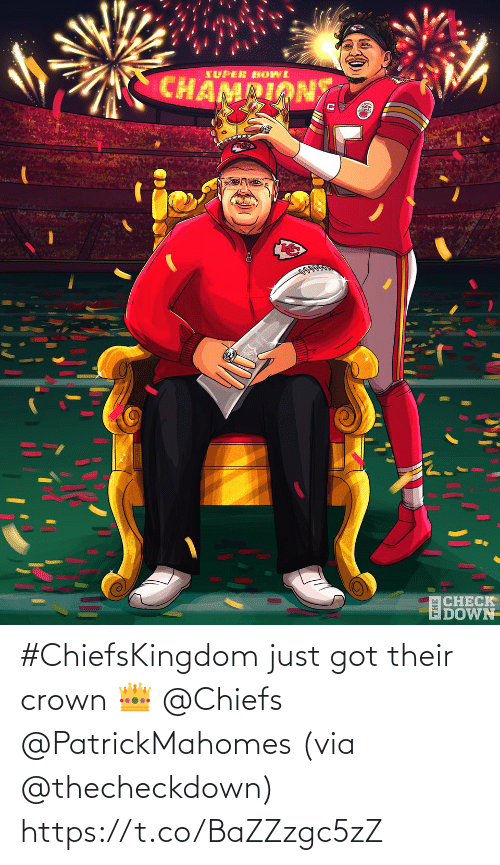 crown: #ChiefsKingdom just got their crown 👑 @Chiefs @PatrickMahomes (via @thecheckdown) https://t.co/BaZZzgc5zZ