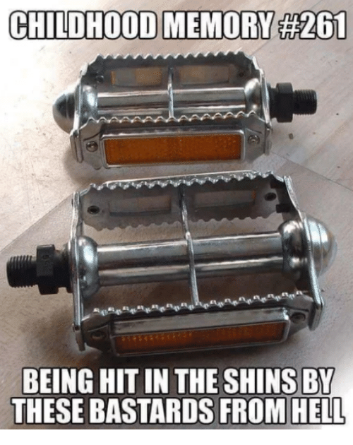 Memes, Hell, and 🤖: CHILDHOOD MEMORY #26  BEING HIT IN THE SHINS BY  THESE BASTARDS FROM HELL