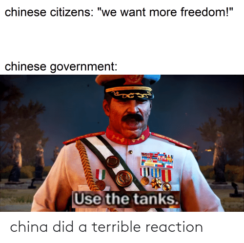 reaction: china did a terrible reaction