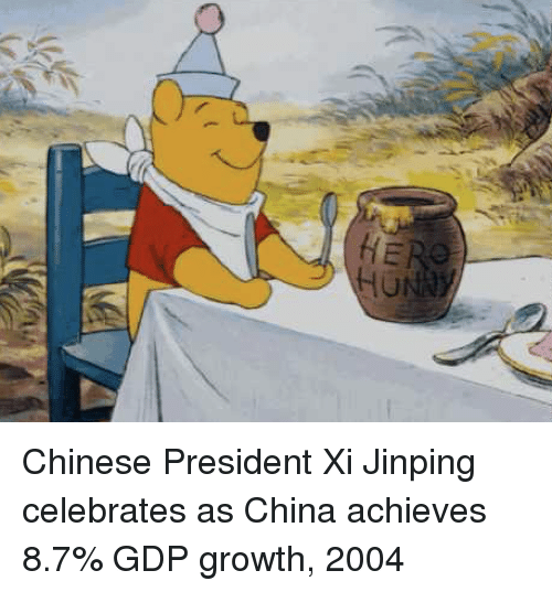 gdp: Chinese President Xi Jinping celebrates as China achieves 8.7% GDP growth, 2004