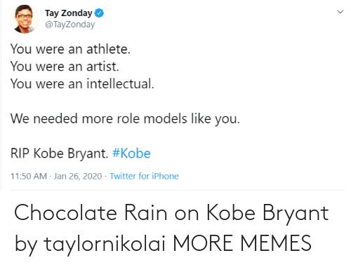 Rain: Chocolate Rain on Kobe Bryant by taylornikolai MORE MEMES