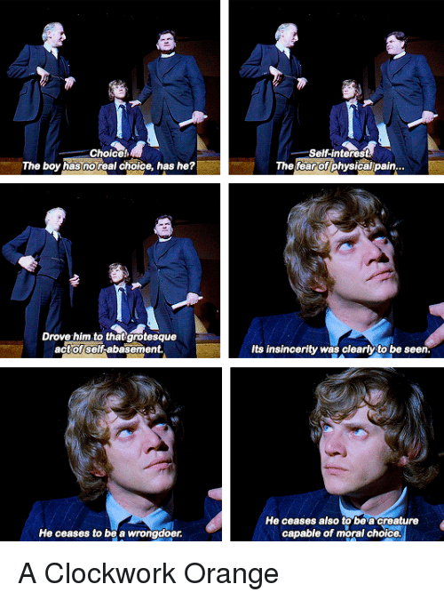 morality in a clockwork orange