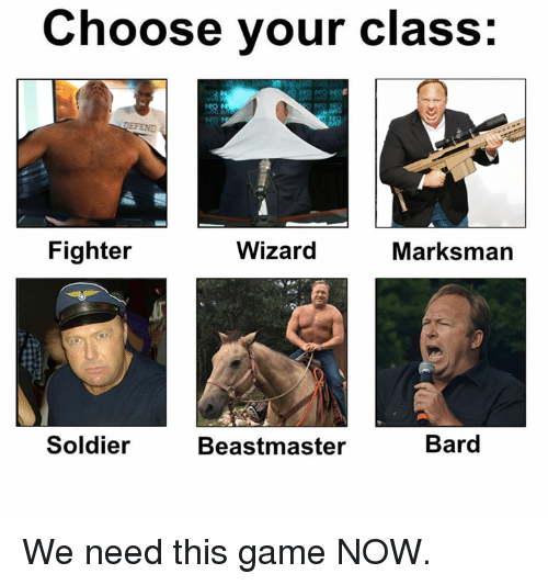 how to choose the dnd class for you
