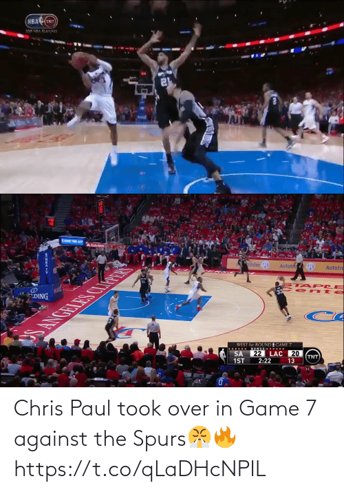 Chris Paul: Chris Paul took over in Game 7 against the Spurs😤🔥 https://t.co/qLaDHcNPIL