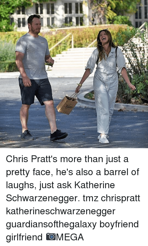 katherine: Chris Pratt's more than just a pretty face, he's also a barrel of laughs, just ask Katherine Schwarzenegger. tmz chrispratt katherineschwarzenegger guardiansofthegalaxy boyfriend girlfriend 📷MEGA