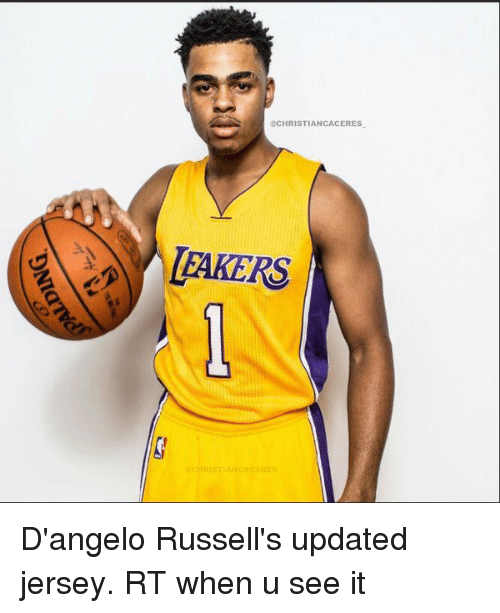 d'Angelo Russell, Christianity, and Hood: @CHRISTIAN CA CERES  LAKERS  CHRISTIAN ACEEE D'angelo Russell's updated jersey. RT when u see it