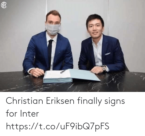 Christian: Christian Eriksen finally signs for Inter https://t.co/uF9ibQ7pFS