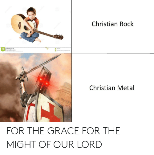 Anastasia: Christian Rock  Download from  Dreamstime.com  18281908  Anastasia Shleval Drearst me com  Christian Metal FOR THE GRACE FOR THE MIGHT OF OUR LORD