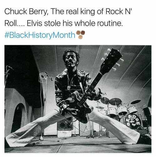chuck berry: Chuck Berry, The real king of Rock N'  Roll.... Elvis stole his whole routine  HEBlackHistoryMonth