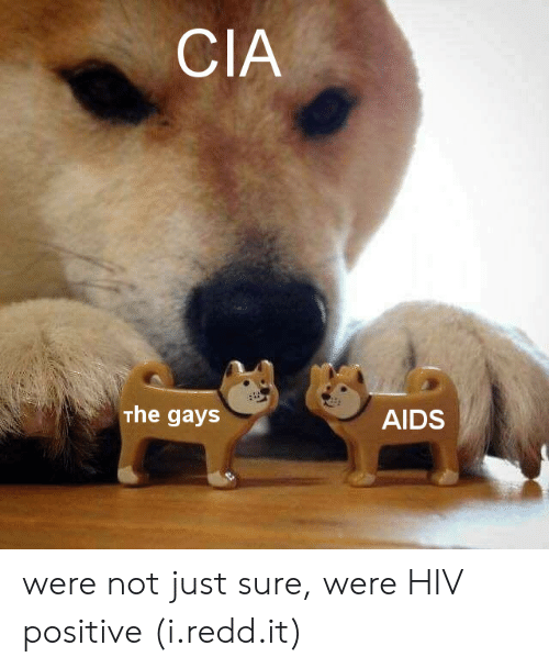 Hiv Positive: CIA  The gays  AIDS were not just sure, were HIV positive (i.redd.it)