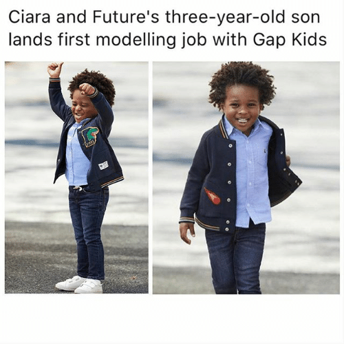modelling: Ciara and Future's three-year-old son  lands first modelling job with Gap Kids