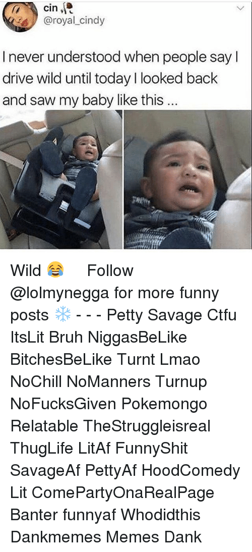 Pokemongo: cin  @royal cindy  I never understood when people sayl  drive wild until today l looked back  and saw my baby like this  gHit Wild 😂 ‍ ‍ ⁶𓅓 ➫➫ Follow @lolmynegga for more funny posts ❄️ - - - Petty Savage Ctfu ItsLit Bruh NiggasBeLike BitchesBeLike Turnt Lmao NoChill NoManners Turnup NoFucksGiven Pokemongo Relatable TheStruggleisreal ThugLife LitAf FunnyShit SavageAf PettyAf HoodComedy Lit ComePartyOnaRealPage Banter funnyaf Whodidthis Dankmemes Memes Dank