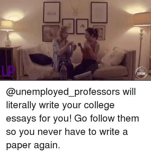 Have your essays written for you