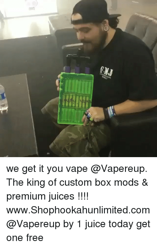 Boxing, Funny, and Juice: CK3  9 we get it you vape @Vapereup. The king of custom box mods & premium juices !!!! www.Shophookahunlimited.com @Vapereup by 1 juice today get one free