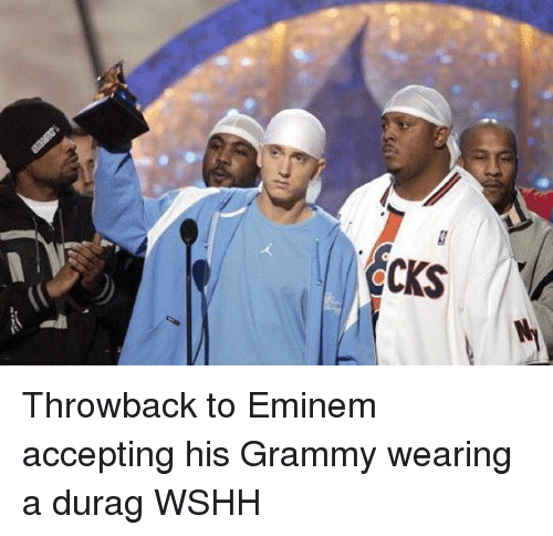 Durag, Eminem, and Memes: CKS Throwback to Eminem accepting his Grammy wearing a durag WSHH