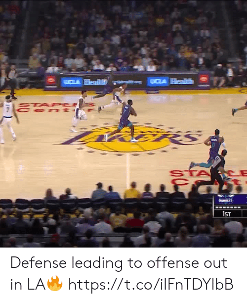 Sta: CLA Health  STA PCE  Cen t  fमी  HORNETS  1ST Defense leading to offense out in LA🔥 https://t.co/iIFnTDYIbB