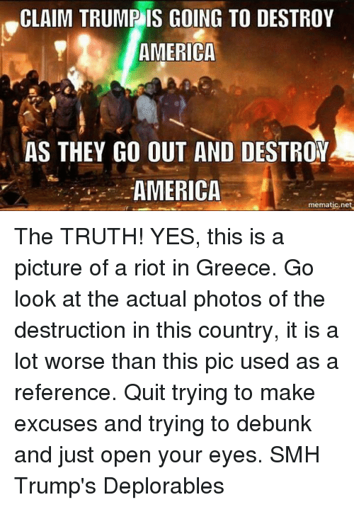 Truth and the destruction illusion facade