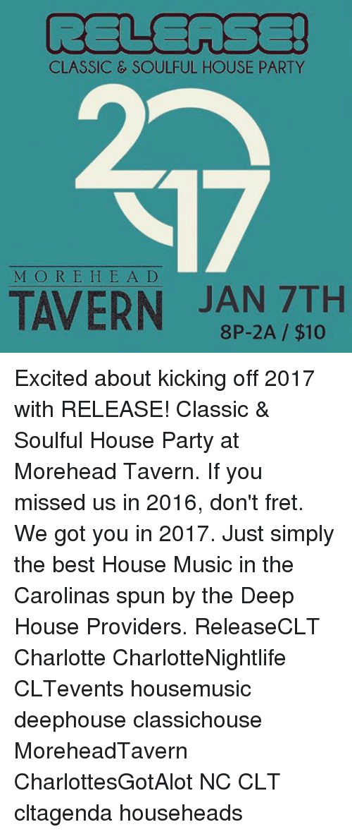 Classic soulful house party m o r e h e a d tavern jan 7th for Soulful house classics