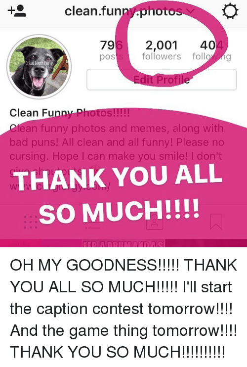 Thank You So Much Funny Meme : Clean fun noto followers foll g pos edit
