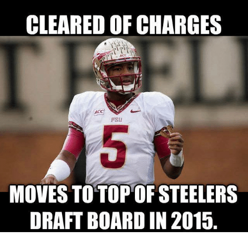 Steelers: CLEARED OFCHARGES  AC  MOVES TO TOP OF STEELERS  DRAFTBOARD IN 2015