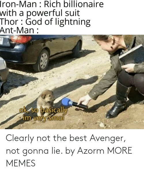 Not The: Clearly not the best Avenger, not gonna lie. by Azorm MORE MEMES