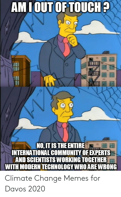 climate change: Climate Change Memes for Davos 2020