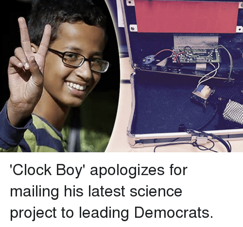 Clock, Science, and Boy