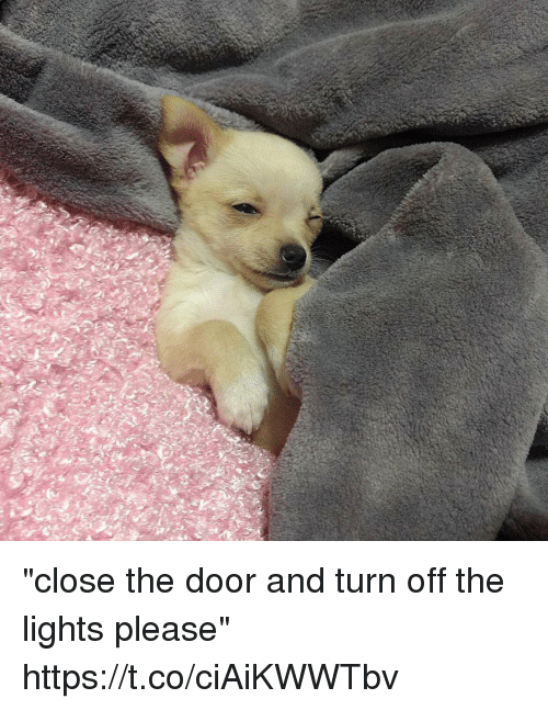 """turn offs: """"close the door and turn off the lights please"""" https://t.co/ciAiKWWTbv"""