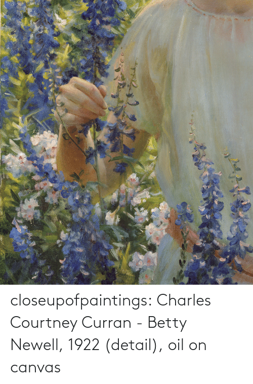 Canvas: closeupofpaintings:  Charles Courtney Curran - Betty Newell, 1922 (detail), oil on canvas