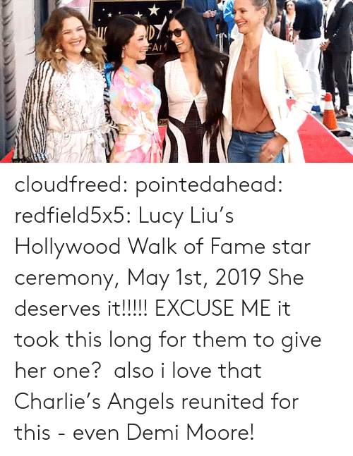 Moore: cloudfreed: pointedahead:  redfield5x5: Lucy Liu's Hollywood Walk of Fame star ceremony, May 1st, 2019 She deserves it!!!!!  EXCUSE ME it took this long for them to give her one?  also i love that Charlie's Angels reunited for this - even Demi Moore!