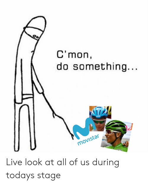 skoda: C'mon,  do something...  AHUS  movistar  SKODA Live look at all of us during todays stage