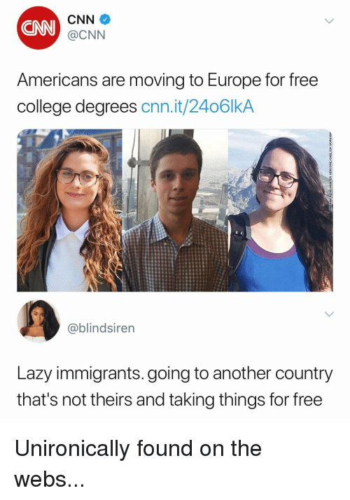 Americans are moving to Europe for free college degrees