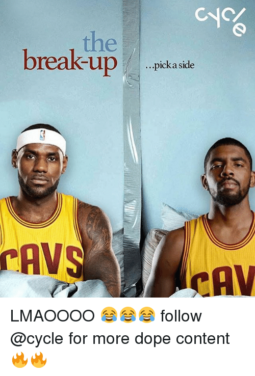 cav: CNC  the  break-uppkasd  breakup  ...pick a side  AVS  CAV LMAOOOO 😂😂😂 follow @cycle for more dope content 🔥🔥