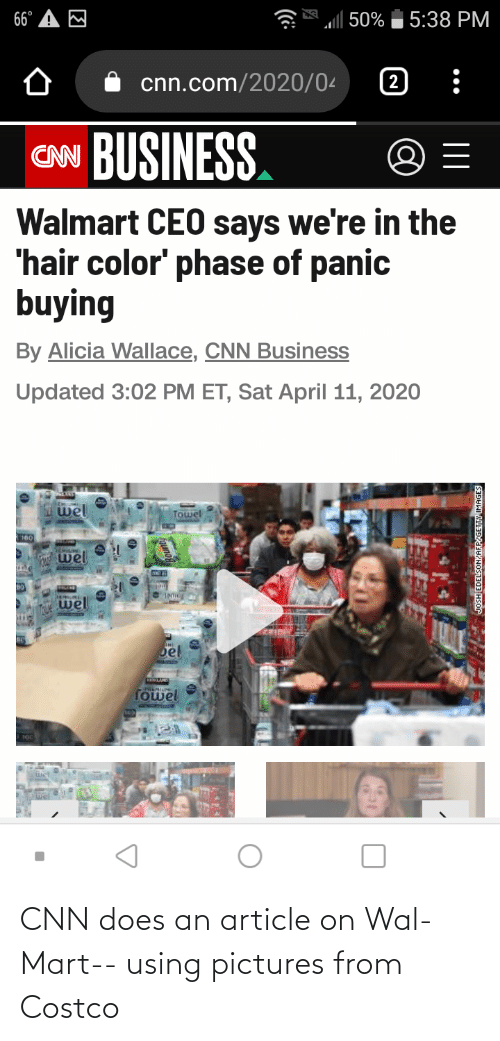 Costco: CNN does an article on Wal-Mart-- using pictures from Costco