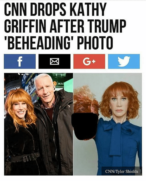 Kathy Griffin: CNN DROPS KATHY  GRIFFIN AFTER TRUMP  BEHEADING PHOTO  CNN/Tyler Shields