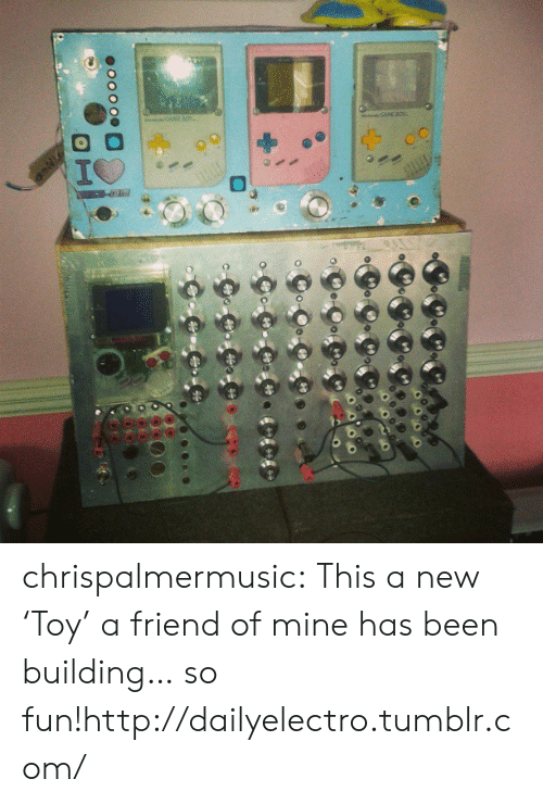 new toy: Co CoC  oo000  H chrispalmermusic:  This a new 'Toy' a friend of mine has been building… so fun!http://dailyelectro.tumblr.com/
